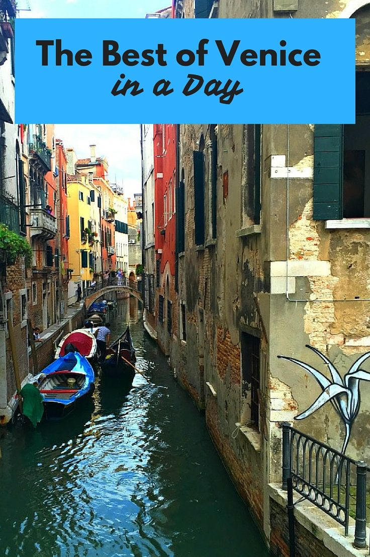 The Best of Venice in a Day. If you only have a short time in Venice Italy then we recommend going with a small group guided tour. We were able to skip the line at St. Mark's Basilica, get a boat tour through Venice's canals and found little spots where locals eat. A perfect day! Click to read more @venturists
