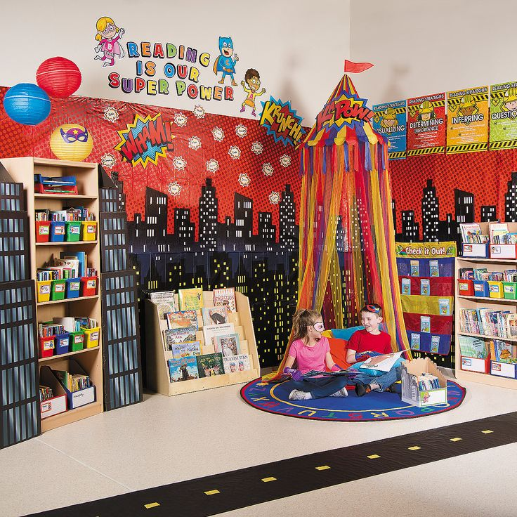 Superhero Reading Corner Idea - OrientalTrading.com