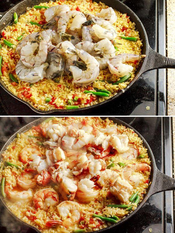 Seafood Paella Recipe from The Mediterranean Dish