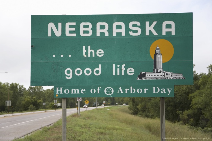 Image detail for sign to Nebraska Nebraska