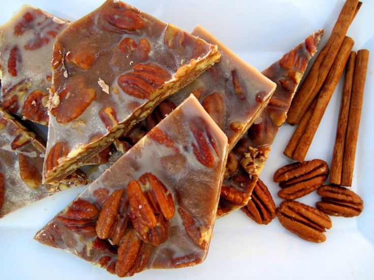 #paleo #thanksgiving Chewy Pecan Pie Brittle: ½ pecans (more would work if you REALLY love pecans); ½ cup honey; ½ cup maple syrup; ½ cup Coconut Oil, melted; ½ cup Coconut Cream Concentrate or homemade coconut butter; 2 teaspoons cinnamon; 1 teaspoon vanilla extract; pinch of salt