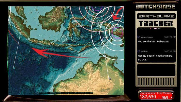 1/27/2017 -- Nightly Earthquake Update + Forecast -- Europe hit near Italy -- West coast watch #Dutchsinse
