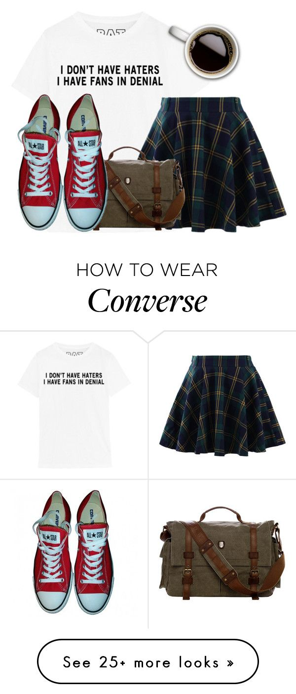 """Here"" by clothesforfuture on Polyvore featuring Chicwish and Converse"