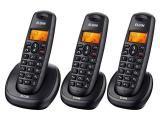 Telefone Sem Fio Elgin TSF-7003 2 Ramais - com Identificador de Chamadas com Viva Voz Preto