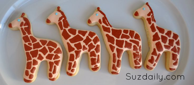 How to make a Giraffe Cookie | Suz Daily