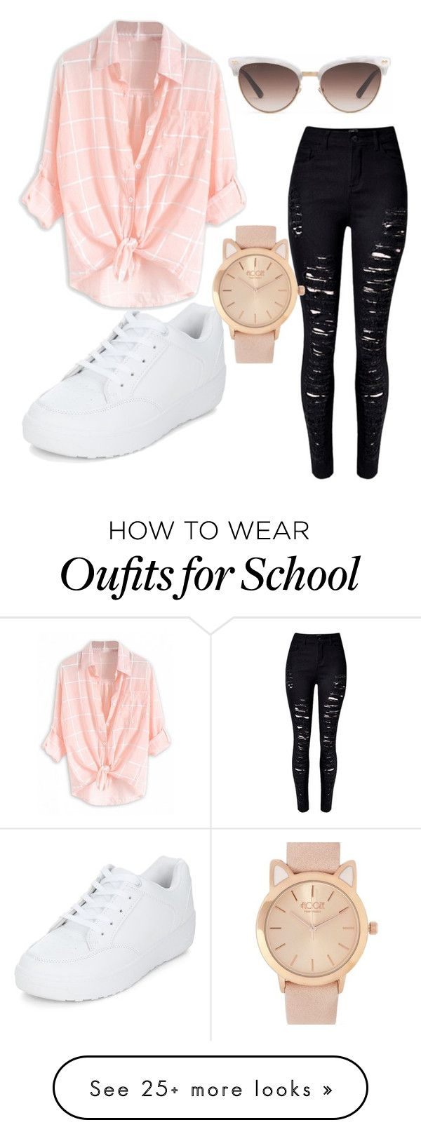 """School outfit"" by miaj0rdan on Polyvore featuring Gucci, WithChic and New Look"