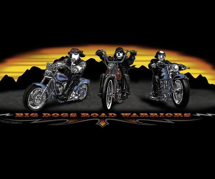 Big Dogs Black Bikers Sunset Long Sleeve Tee Shirt 3X 100% Cotton Road Warriors Great Father's Day Gift for Biker Dad! #BigDog #GraphicTee