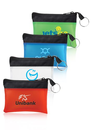 Pocket Travel Pouches! Get them personalized & custom printed for your promotional giveaways. Choose from 4 different colors.