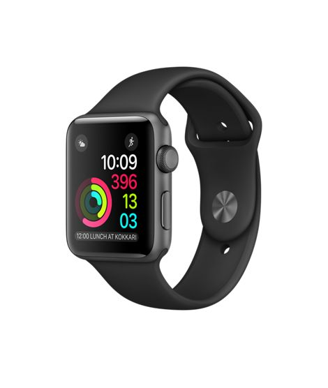 Apple Watch - Space Grey Aluminium Case with Black Sport Band - Apple (AU)
