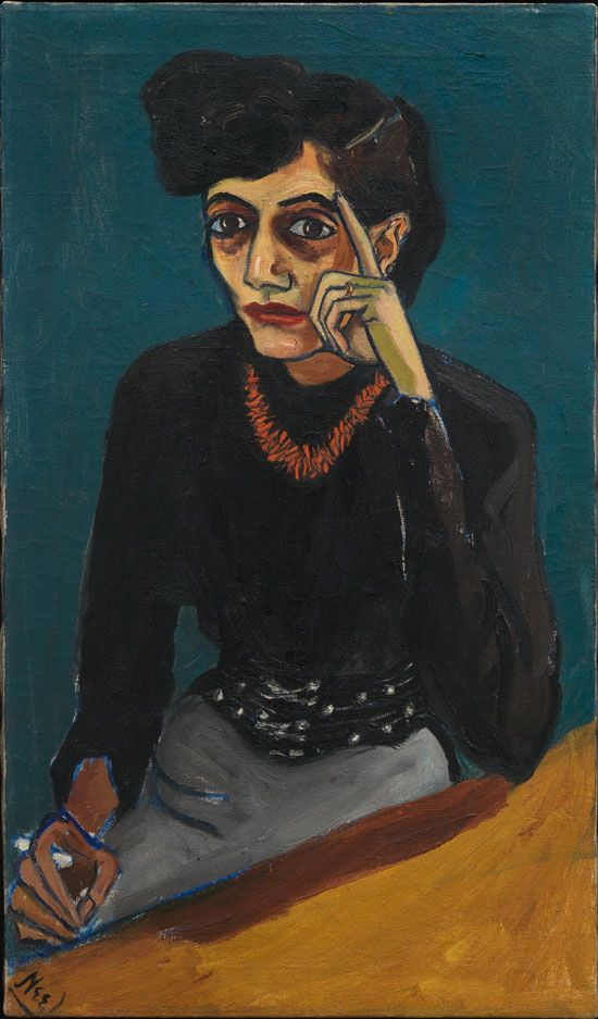 Alice Neel (1900-1984) was an American artist known for her oil on canvas portraits of friends, family, lovers, poets, artists and strangers