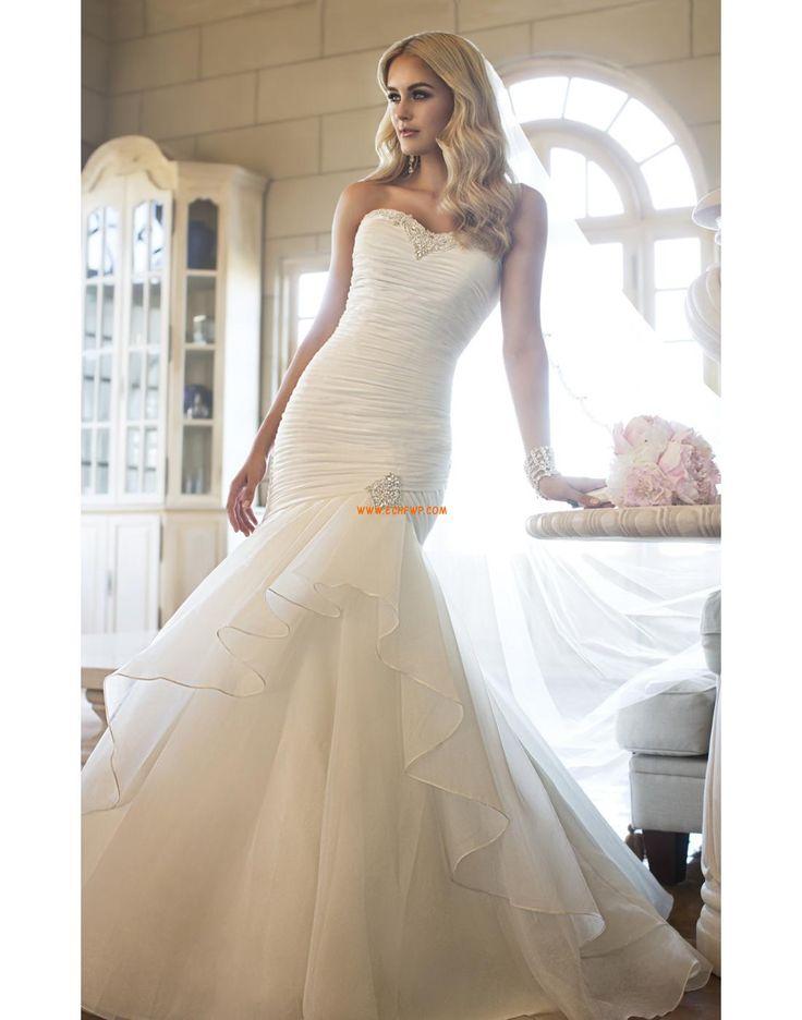 Sirène Balayage / pinceau train Rectangulaire Robes de mariée Designer