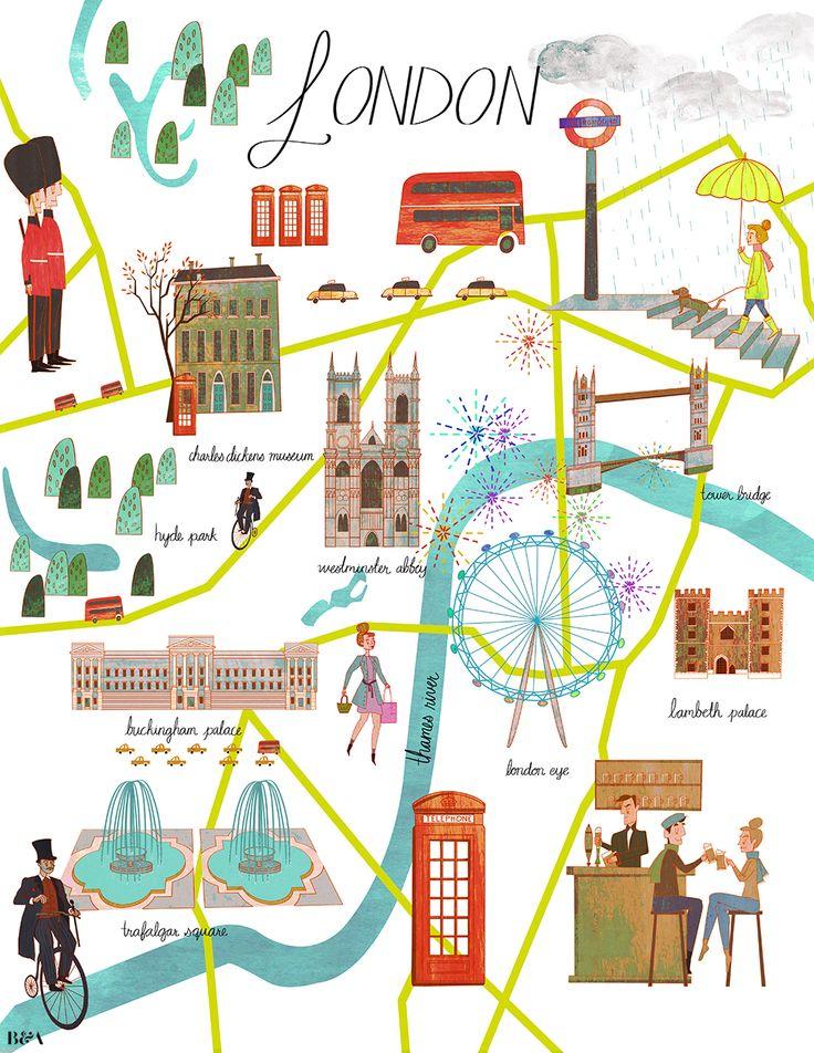 Josie Portillo - London illustration.   http://obus.com.au/ https://www.facebook.com/Obusclothing