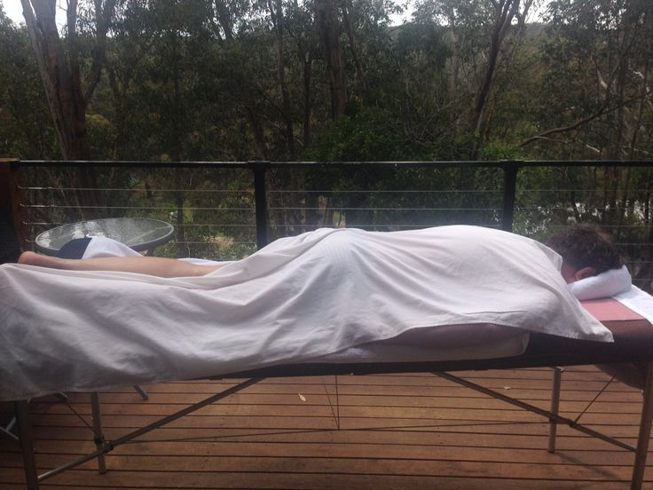 Ultimate relaxation , massage on the Balcony at Kudos Bliss Hepburn Springs.