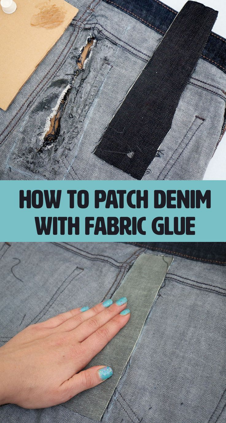 The most common use for fabric glue is patching holes and rips in textiles. It saturates between the fibers and leaves behind a tacky film without soaking all the way through.
