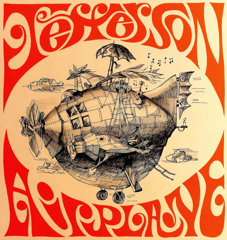 Jefferson Airplane concert poster - c 1967-68.