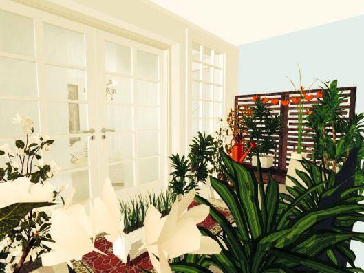 3d floor plans - konstadina nastou decorator-Greece-http://kinteriorsblog.wordpress.com/ #floorplans #roomsketcher #balcony #plants #home #green