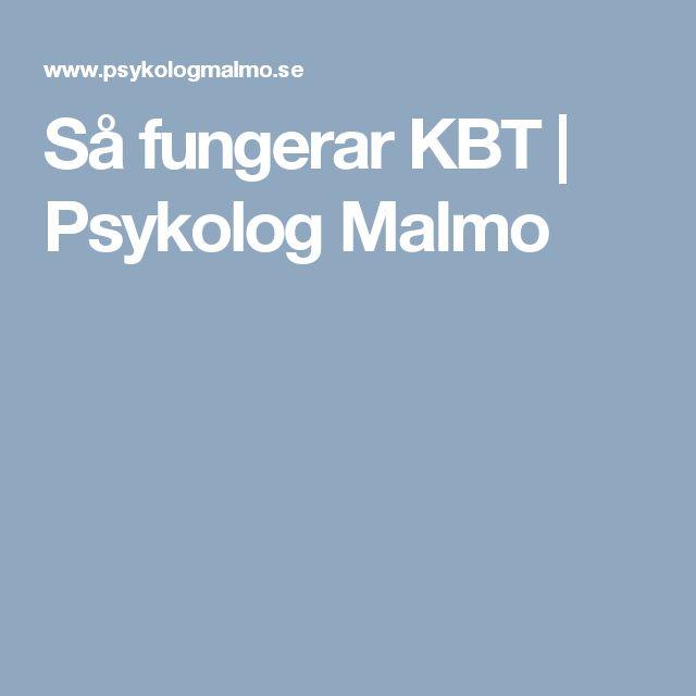 Så fungerar KBT | Psykolog Malmo