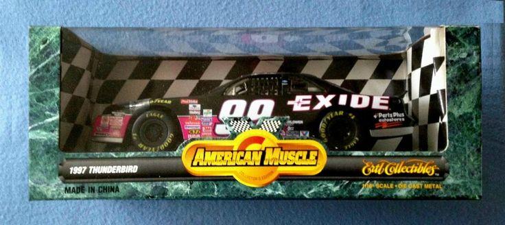 1997 THUNDERBIRD #99 JEFF BURTON 1:18 DIECAST CAR AMERICAN MUSCLE ERTL #ERTL #Thunderbird