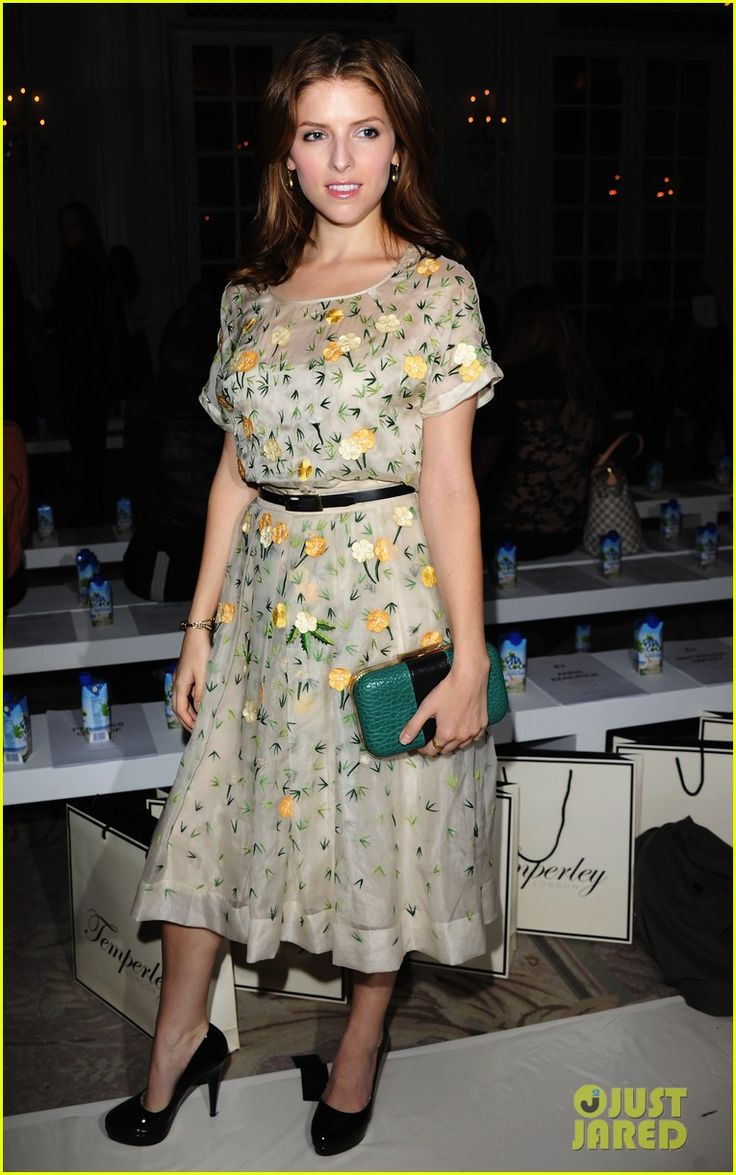 Anna Kendrick steps out in style for the Temperley London Fashion Show during London Fashion Week SS14 held at The Savoy Hotel in London, England. #Hollywood #Fashion #Style