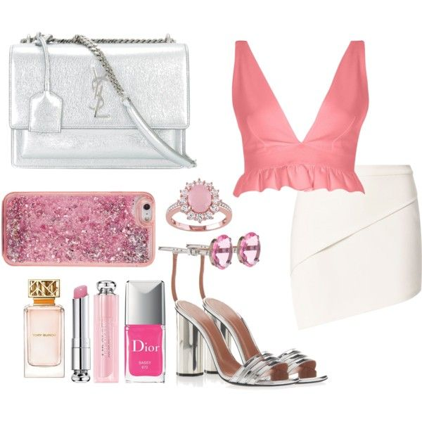 A fashion look from July 2017 featuring River Island tops, Michelle Mason mini skirts and Marco de Vincenzo sandals. Browse and shop related looks.