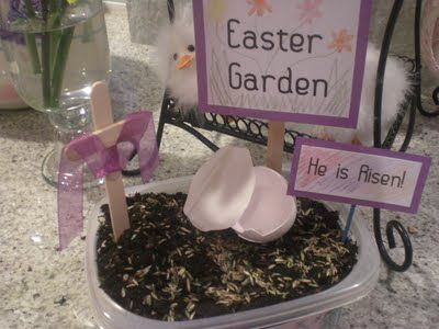Little Easter garden craft - do this with the Children's Church kids this next spring