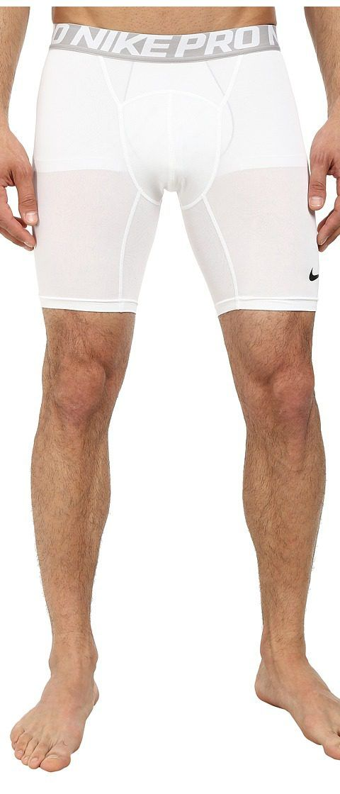 Nike Pro Cool Compression 6 Short (White/Black) Men's Shorts - Nike, Pro Cool Compression 6 Short, 703084-100, Apparel Bottom Shorts, Shorts, Bottom, Apparel, Clothes Clothing, Gift, - Street Fashion And Style Ideas