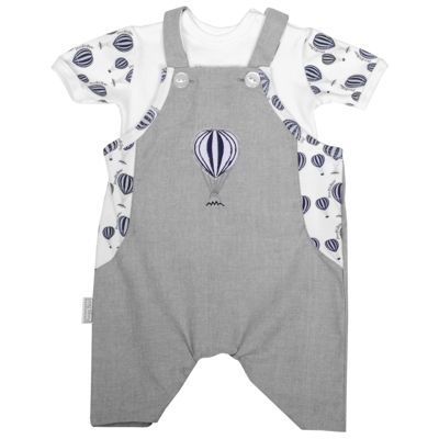 Poogy Bear | Baby Clothing & Accessories | Navy Hot Air Balloon Dungaree Summer