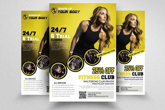 Fitness Flyer Templates by Design Up on @creativemarket