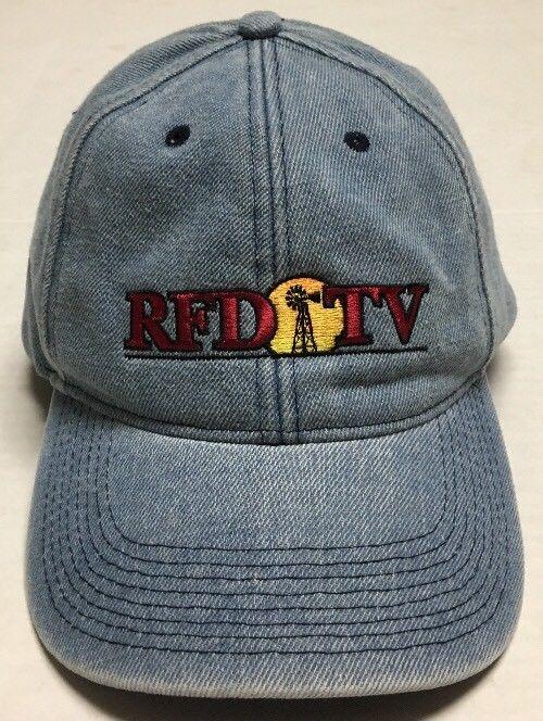 31678597cee53 RFD TV Hat Omaha Nebraska Show Cap Denim Farming Agriculture Rural Sunset  Farmer  BaseballCap