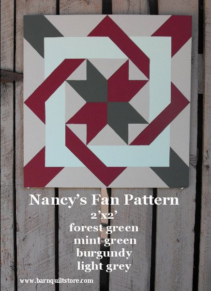 Barn Quilt Nancy's Fan Pattern by TheBarnQuiltStore on Etsy, $65.00