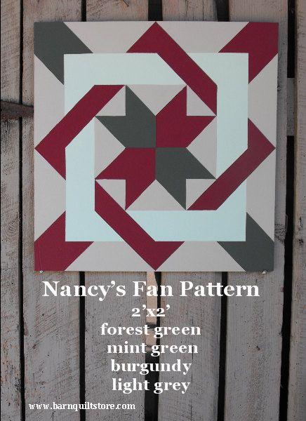 Barn Quilt Nancy's Fan Pattern by TheBarnQuiltStore on Etsy, $65.00