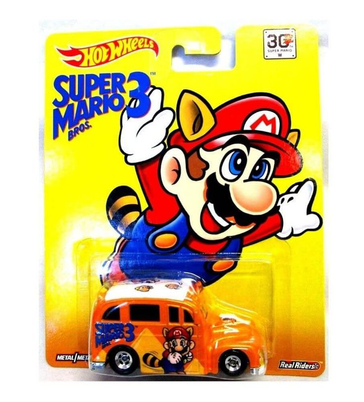 Hot Wheels Super Mario Brothers 3 School Busted Real Riders   Hot wheels. Mario. Super mario bros