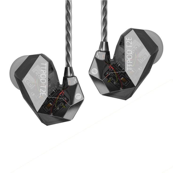 TTPOD T2/T2E 3Driver Hybrid 2 Balanced Armature+Dynamic Driver In-Ear Earphone | eBay