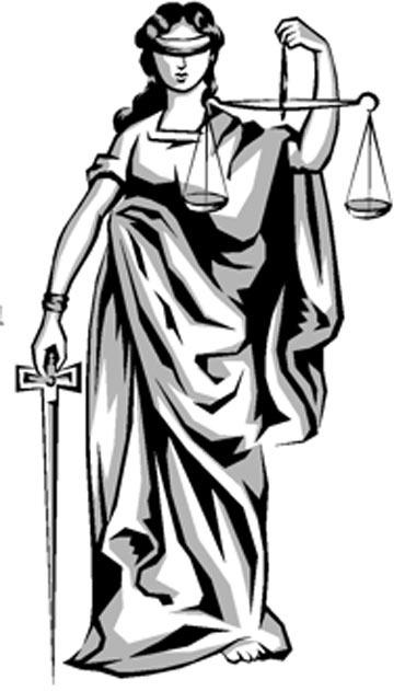 ESTÁTUA DA JUSTIÇA: Estatua com a deusa vendada e de olhos abertos: a justiça deve ser cega, porém atenta... A Balança: a justiça deve manter o equilíbrio e nunca dar privilégios a um lado... a Espada: O poder de Julgamento e de Decisão ...