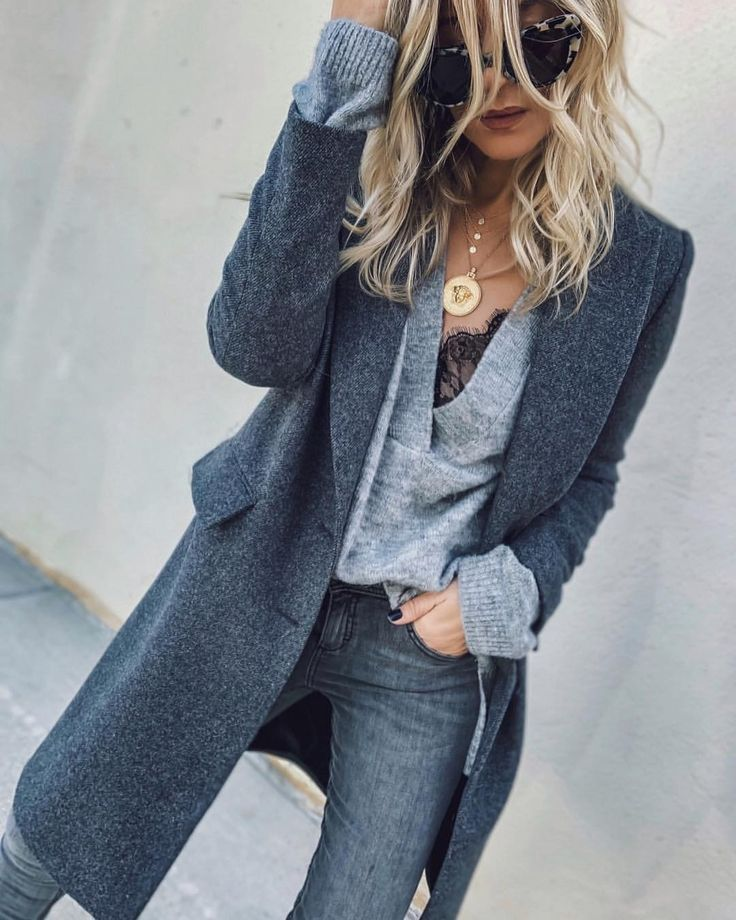 "Heather on Instagram: ""grey days   ⚖️"" #ootd #streetstyle"
