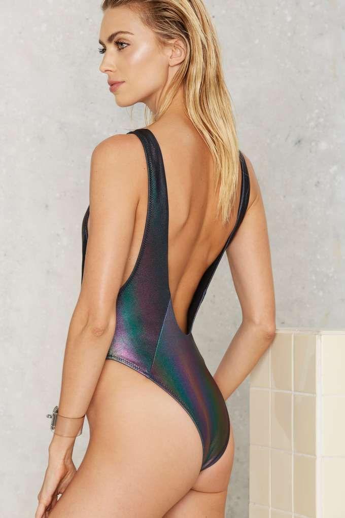 65eb52fa488cd Nasty Gal Skye Oil Slick Hologram Swimsuit - Clothes | The Swim Shop | Swim  Shop | Best Sellers | One Pieces | swimwear | One Piece Swimsuit, One  piece, ...