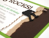 Rock Climbing Theme Handmade Birthday Party Invitation
