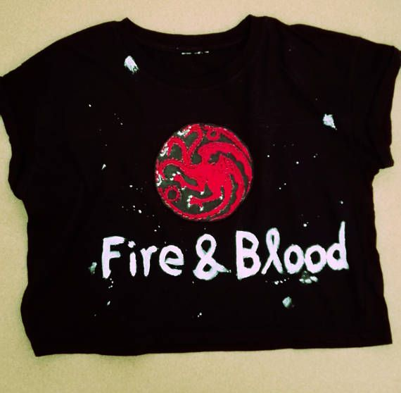 Game of Thrones Targaryen Crop Top with Embroidered Patch and