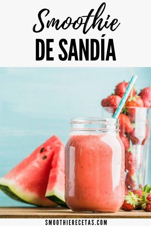 Receta Smoothie De Sandia Smoothies De Frutas Smoothie Recetas