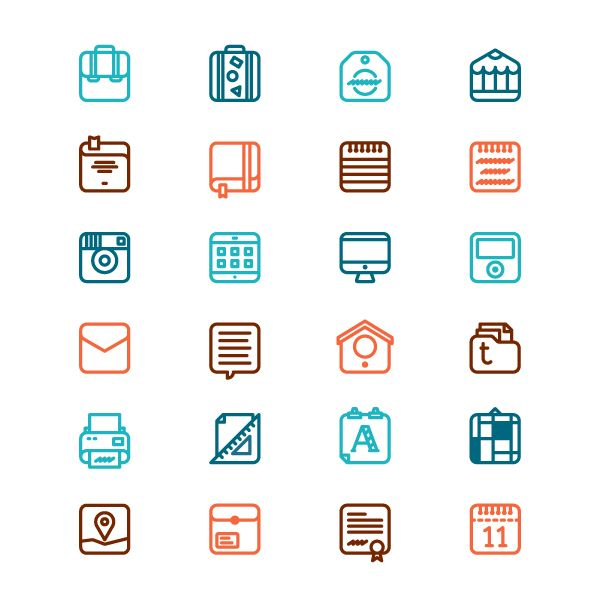 Things on Icons by Riccardo Casinelli, via Behance