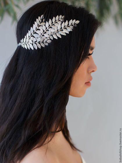 Beautiful tiara / Диадемы, обручи ручной работы. Ярмарка Мастеров - ручная работа. Купить Обруч SS16. Handmade. Серебряный, ободок