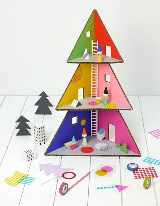 DIY Christmas Tree Doll House, from Mr Printables