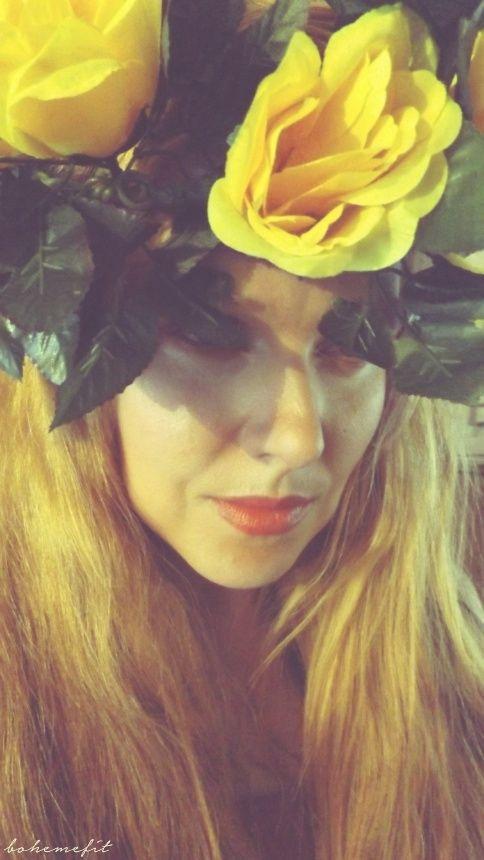 ☽ wreath 'yellow rose' ☾ #diy #hair