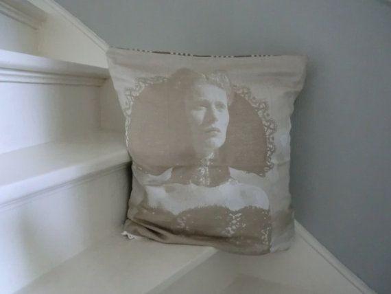 Eco weaved foto pillow cover 30th Italian cotton Dutch women