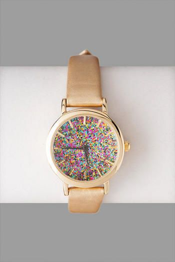 Las Vegas Glitter Watch in Gold