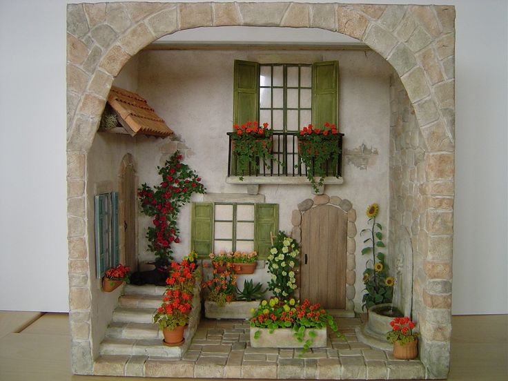 paperclay stone courtyard