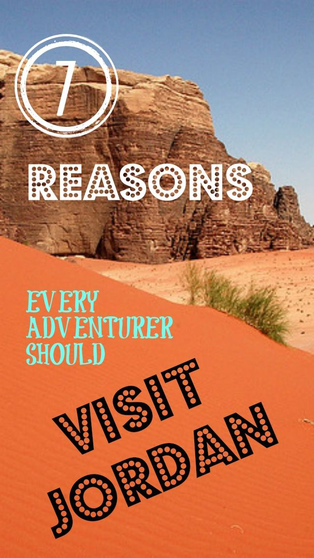 7 Reasons to Visit Jordan. Every adventure traveler should check out what Jordan has to offer, it will surprise you! Exploring Petra, to the Eco-Tourism of Wadi Rum. Scuba Diving in the Red Sea or the Dead Sea. It does not matter Jordan has the adventure you are looking for! Visit Jordan today! http://www.divergenttravelers.com/7-reasons-every-adventurer-should-visit-jordan/ #gojordan