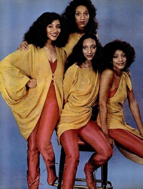 Sisters Sledge 1970s. Beautiful Joni Sledge (first from the left) died peacefully at home on 12th March 2017 aged just 60 years old. May she rest in God's eternal peace.