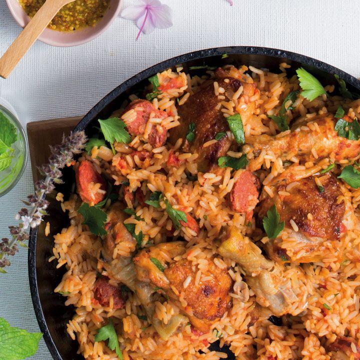 Chicken and chorizo rice pot
