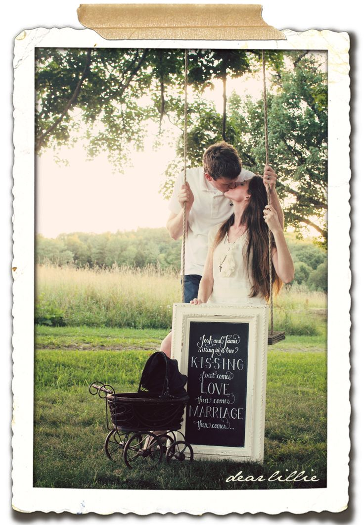 First comes love, then comes marriage, then comes...this is by far the cutest that I've seen for a baby announcement - love it!